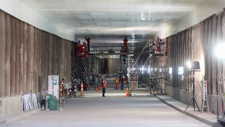 Obras del túnel Benavides registran un 80% de avance
