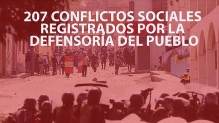 Defensoría del Pueblo registró 146 conflictos sociales activos y 61 latentes