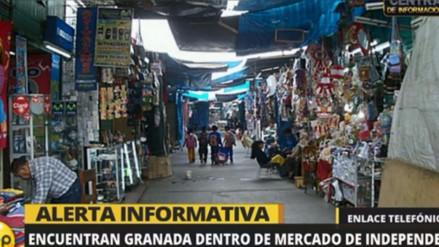 Encuentran una granada de guerra dentro de un mercado de Independencia