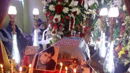 Huancayo: velan los restos del empresario asesinado en Pasco