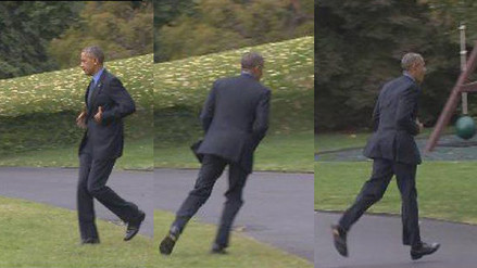 Barack Obama olvidó su teléfono celular y corrió de regreso por él