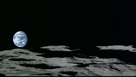 Así se ve aparecer a la Tierra desde la Luna