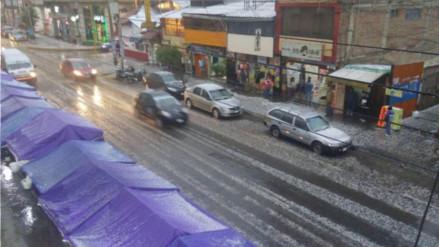 Sorpresiva granizada se registra en la ciudad de Huancayo