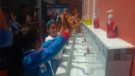 Escolares de Lambayeque participaron en jornada de lavado de manos