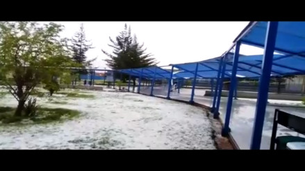 Granizada en Huancayo afecta hospital de Essalud