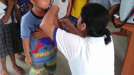 Realizan campaña de vacunación contra el sarampión y la rubeola en Amazonas