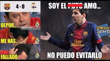 Los 10 mejores memes de la goleada del Barcelona sobre el Deportivo La Coruña