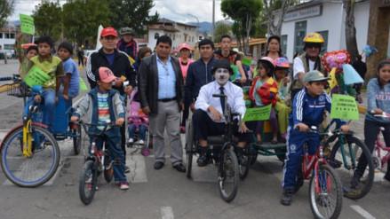 """Cajamarca: Municipalidad de Baños del Inca organizó """"I Bici Paseo"""""""