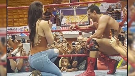 Locura de amor: Paige le pidió matrimonio a Alberto Del Río en pleno ring