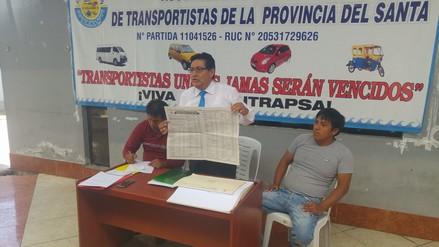 Chimbote: transportistas inician recolección de firmas contra incremento de multas