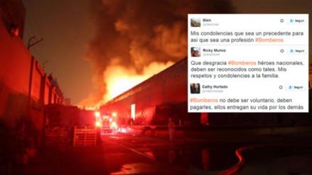 Condolencias, tristeza y reclamos en Twitter por la muerte de los 3 bomberos