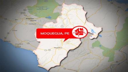 Sismo de 4.1 grados de magnitud se registró en Moquegua