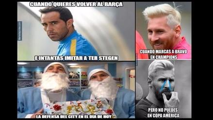 Estos memes dejó el triunfo del Barcelona sobre Manchester City