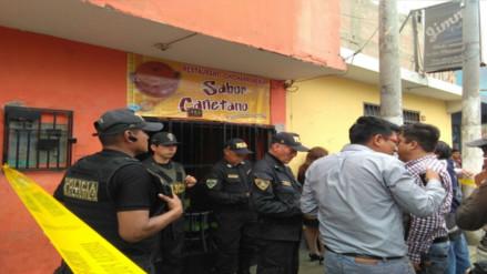 Cañete: dos muertos dejó balacera en restaurante