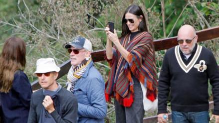 Demi Moore fue captada visitando Machu Picchu