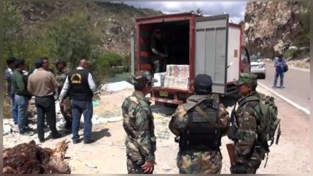 Incautan 250 kilos de droga en Huamanga
