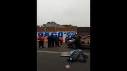SJM: Mujer murió tras ser atropellada en la Panamericana Sur