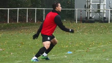Cristian Benavente marcó un golazo en la práctica del Royal Charleroi