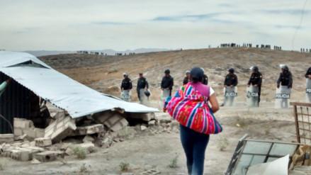 Once personas fueron detenidas durante desalojo en Majes