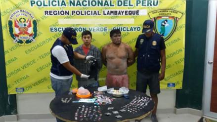 Policía y Fiscalía detiene a sujetos que comercializaban droga en Pátapo