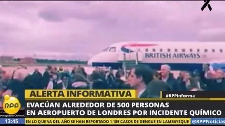 Evacuan un aeropuerto de Londres tras producirse un incidente químico