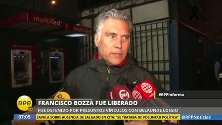 Dejan en libertad a Francisco Boza tras menos de 24 horas detenido