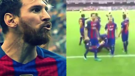 Desde la tribuna: así se vio el botellazo que enfureció a Messi