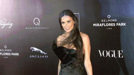 Demi Moore impactó en gala de Mario Testino en Lima