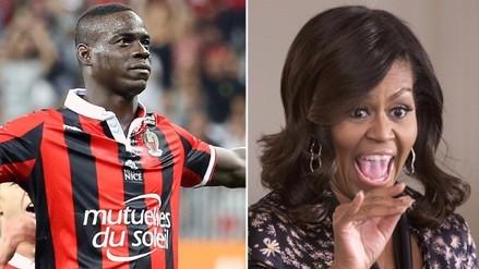 Mario Balotelli se sorprendió con impactante vestido de Michelle Obama