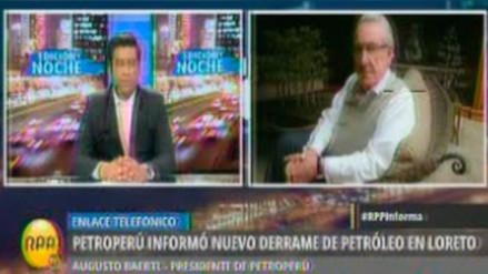 Presidente de Petroperú pide mayor seguridad para el Oleoducto al Gobierno