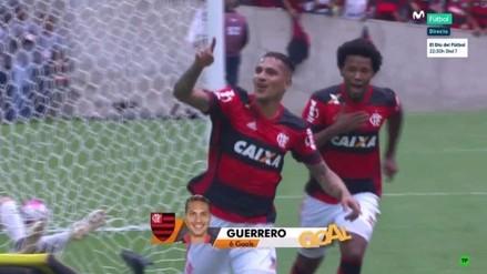 Paolo Guerrero anotó un doblete ante Corinthians con camiseta del Flamengo