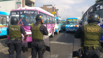 Trujillo: transportistas deciden paro de 48 horas