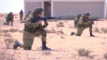 Así entrenan los militares antiterroristas del Ejército de Rusia en Egipto