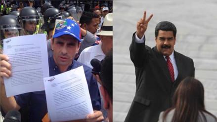 Henrique Capriles niega haber acordado un diálogo con Nicolás Maduro