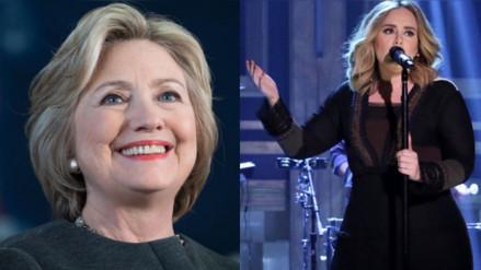 Adele muestra su respaldo a Hillary Clinton en un concierto en Miami