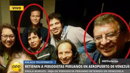 Los periodistas peruanos retenidos en Venezuela llegaron a Lima