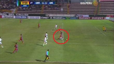 Universitario igualó un 4-0 gracias a un polémico penal ante San Martín
