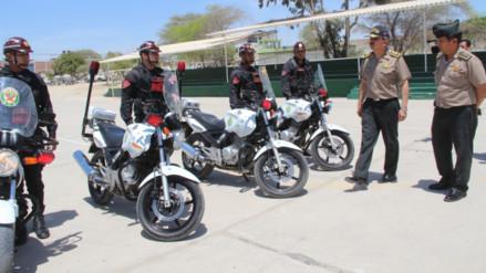 Ministerio del Interior envía diez motocicletas a Piura para reforzar patrullaje