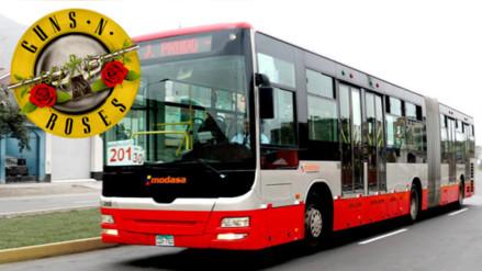 Guns N' Roses en Lima: buses brindarán servicio especial