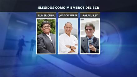 Elmer Cuba, José Chlimper y Rafael Rey son los tres nuevos directores del BCR