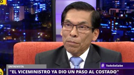"""José Manuel Hernández: """"El viceministro ya dio un paso al costado"""""""
