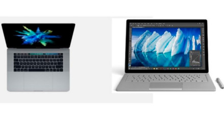 Similitudes y diferencias de las nuevas laptops de Apple y Microsoft