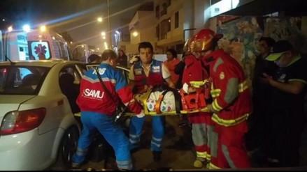 Una mujer herida al despistarse un taxi en San Luis