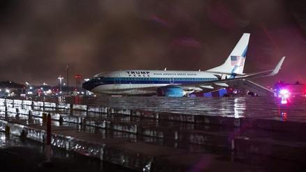 El avión de Mike Pence se salió de la pista tras aterrizar en Nueva York