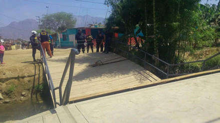 Chiclayo: puente colapsó después que cruzó vicepresidenta Mercedes Aráoz