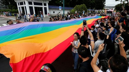 Taiwán acogió la marcha del orgullo gay más grande de Asia