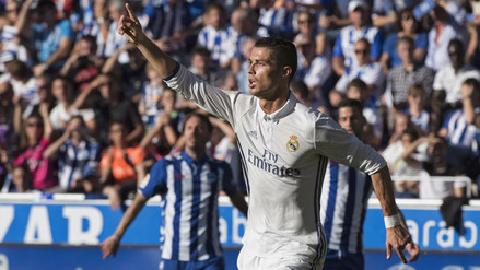 Real Madrid goleó 4-1 a Deportivo Alavés con triplete de Cristiano Ronaldo