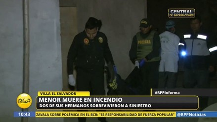Una niña de cinco años murió al incendiarse su casa en Villa El Salvador