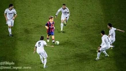 Hijo de Messi entrenó en Barcelona y generó divertidos memes