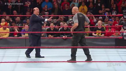 Goldberg desató su furia y le aplicó una lanza a Paul Heyman